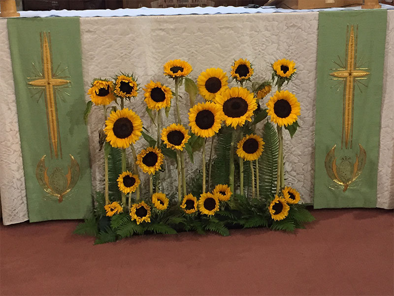 sunflower-altar