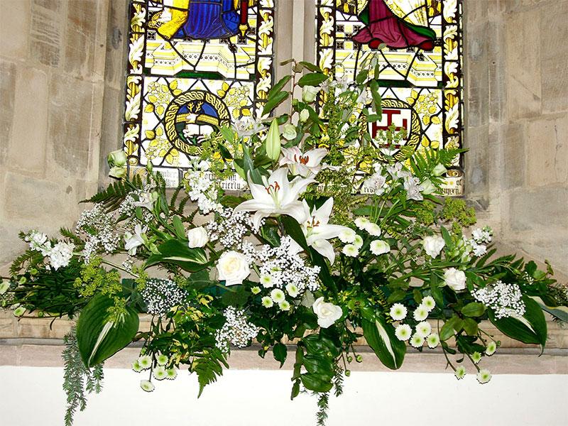 Wedding Flowers St Ed's Church Dringhouses